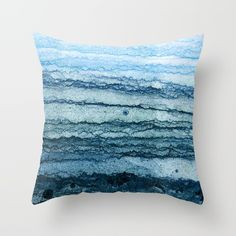 wave - blue Throw Pillow by James White. Worldwide shipping available at Society6.com. Just one of millions of high quality products available.