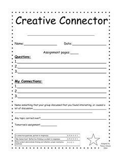 literature circle printables tpt free doing these this week rh pinterest com Literature Circle Job Sheets Literature Circle Questions