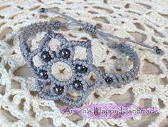 macrame bracelet/wax cord