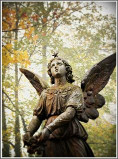 ☫ Angelic ☫ winged cemetery angels and zen statuary - Cemetery Angels, Cemetery Statues, Cemetery Art, Angel Statues, Highgate Cemetery, Entertaining Angels, Old Cemeteries, Graveyards, Angeles