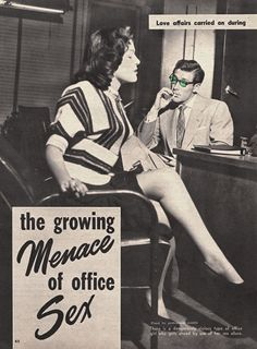 """this isn't happiness™ - photo caption contains external link  ah yes beware the evil office predator...""""there is a dangerously vicious type of office girl who gets ahead by using her SEX allure""""...HAHAHAHAHA"""