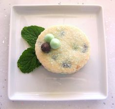Mint Chocolate Chip Shortbread Cookies  1 Dozen by ButterBlossoms, $13.00