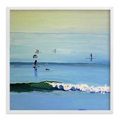 """""""PaddleBoarders, Malibu 2011"""" - Art Print by Annie Seaton in beautiful frame…"""