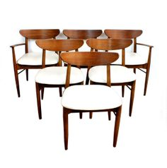 SALE 1950s60s Danish Modern Dining Chairs Set by TheModernHistoric, $1499.00