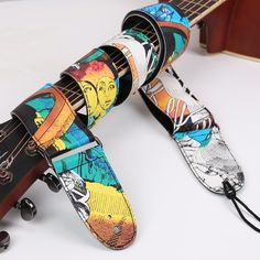 Free shipping guitarist necessary ballad guitar straps, personality graffiti acoustic guitar straps, cool electric guitar straps