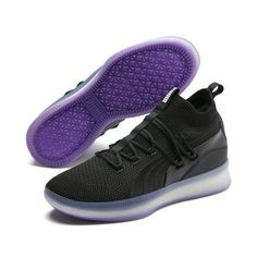 Details about New Puma Men s Clyde Court Basketball Shoes Sneakers -  Black Purple(191715-06) 3155ac266