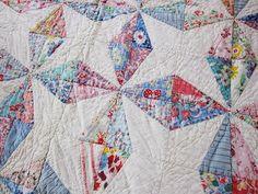 1930s Vintage Quilt Patterns   Antique cutter quilt 1930s feedsack Water by fabriquefantastique