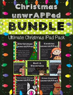 Ultimate Christmas iPad Activity BUNDLE Includes a month's worth of Common Core CCSS aligned reading, math, and writing activities fully integrating the use of 6 FREE Christmas iPad apps.  Decorate virtual Christmas trees and cookies, make a felt tree, cook a virtual Christmas dinner, and more!  Always save 20% when buying a BUNDLE.