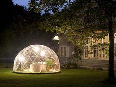 Med en igloo i trädgården får du ett mysigt uterum - utan att det behöver kosta skjortan.