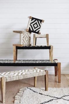 These striking statement pieces are a modern twist on an ancient furniture style still used extensively today in the Indian sub-continent. The perfect global st