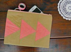 Pencil case, purse, multi-purpose geometric pouch!