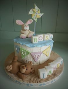 Christening Cake for James & Rosa. So sweet for a shower. This one is for twins.