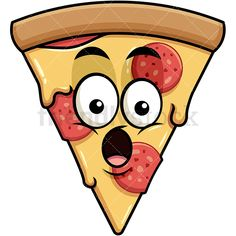 Surprised Pizza Emoji: Royalty-free stock vector illustration of a pizza emoji with pepperoni and cheese topping, with its mouth wide-open, looking in shock. Cartoon Styles, Cartoon Art, Surprise Pizza, Pizza Emoji, Pizza Ranch, Animation Tutorial, Vector Clipart, Emoticon, Pepperoni