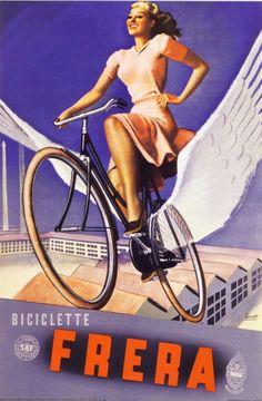 ✔️ By Gino Boccasile (1901-1952), Biciclette Frera