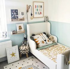 Ikea hack child's bed with play area and beautiful kids art on the walls. Ikea hack child's bed with play area and beautiful kids art on the walls. Boy Toddler Bedroom, Toddler Room Decor, Boys Room Decor, Ikea Toddler Room, Ikea Kids Room, Ikea Boys Bedroom, Montessori Toddler Rooms, Cool Boys Room, Kids Room Bed