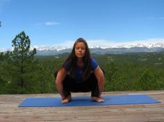 The Garland Pose stretches your upper back and trapezius muscles like a charm!