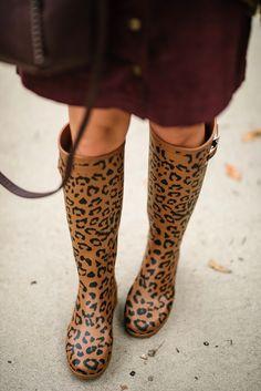 d8296d963b40 Under $30 Cord Skirt, Target Style Cardigan & Leopard Print Hunter Boots