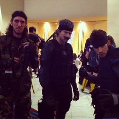 Various versions of Solid Snake #MetalGearSolid #SolidSnake #DragonCon