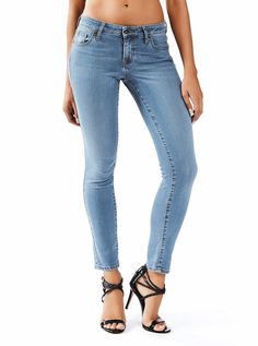 Guess - Power Curvy Mid Rise Jean