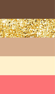 Wedding color palette idea: brown, gold, tan, ivory, pink/coral/peach