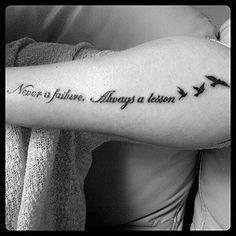 Niemals ein Fehler immer eine Lektion...