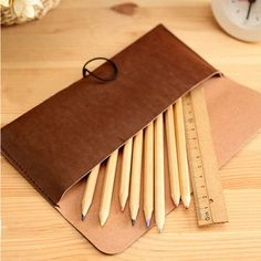 New Suede Leather Cosmetic Makeup Bag Pen Pencil Stationery Case Zipper Pouch | eBay