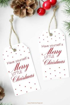 Have Yourself a Merry Little Christmas Gift Tags - The Birch Cottage