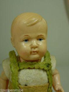 P825-Altes-Schildkroet-Baby-SKN-Puppenstube-Puppe-ca-16-cm-1930