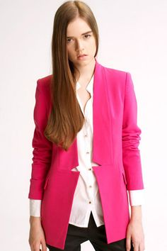 Geometry Cut-out Slim Rose Suit    $121.99  romwe.com new in  #romwe
