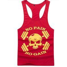 Men Professional Models Tank Tops Cotton Vest Casual Skull Trainers Vest