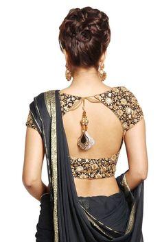 Elegant saree blouse designs Want to know Blouse Back Neck Designs, Sari Blouse Designs, Bridal Blouse Designs, Saree Blouse Patterns, Choli Designs, Latest Saree Blouse, Lehenga Blouse, Black Saree Blouse, Sari Dress