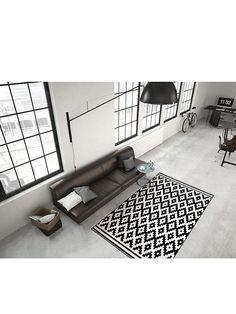 "Kayoom Kunstvezel tapijt ""Stella"" zwart/wit"