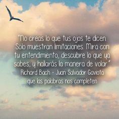 Richard Bach - Juan Salvador Gaviota #frases #citas ... descubre lo que ya sabes...