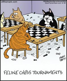 chess for cats - Off the Mark by Mark Parisi (November 10, 2014)