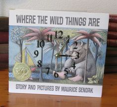 Where the Wild Things Are book clock by MyBooklandia on Etsy  book clock, clock, upcycle, handmade, book, gift for librarian, book theme, gift for birthday, Made in USA, My Booklandia, home Décor, Upcycled Books, Upcycled Book Décor, Art, style, home, literary, words, inspiration, design, child's clock, children's decor, gift for child, baby shower gift