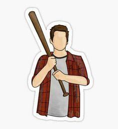 Stiles Stilinski Dylan O Brien Teen Wolf Baseball Bat Sticker Stiles Teen Wolf, Teen Wolf Dylan, Teen Wolf Memes, Arte Teen Wolf, Teen Wolf Art, Teen Wolf Poster, Bubble Stickers, Cool Stickers, Brand Stickers