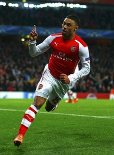 Alex Oxlade-Chamberlain of Arsenal FC in the Champions League