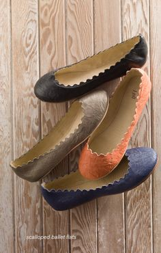 scalloped ballet flats - wouldn't these be cute to have! Especially after my wedding.. Karli looks real cute in flats!