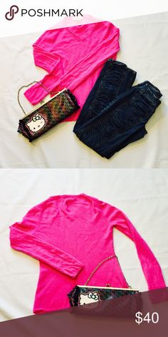 ❄️💰WINTER SALE🎉💰Cashmere Seeater Bright fuchsia color! Super soft feel! 100% cashmere!worn once. Sweaters