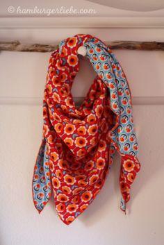 driehoekige sjaal: zo eenvoudig. Easy diy scarf. Shawl