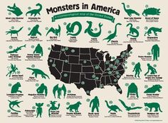 America Is Full Of Mythical Monsters And Beasts. Can You Name Them All?