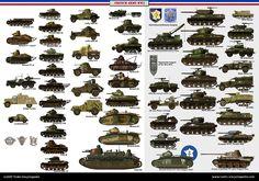 French Tanks ww2 - Regular, FFI, lend lease