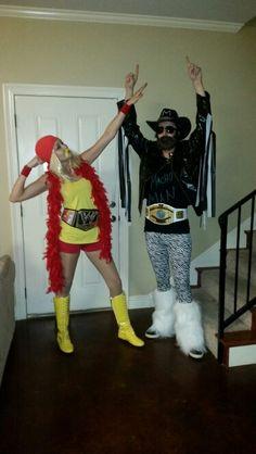 Hulk hogan & macho man homemade Halloween costumes