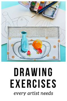 Creative Drawing These drawing exercises can greatly enhance your mixed-media art practice. Try them today! - These drawing exercises are designed to help you loosen up, focus, and hone your observational skills and your own unique style! Drawing Practice, Drawing Lessons, Drawing Techniques, Drawing Tips, Art Lessons, Painting & Drawing, Shading Drawing, Sketching Tips, Drawing Ideas