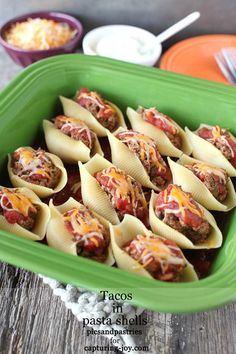 Tacos in Pasta Shells is a delicious and kid-friendly meal.