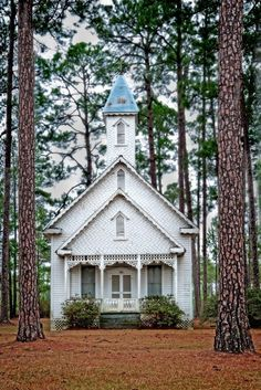Old Ruskin Church, Ware County, Georgia, USA - Circa 1895 - Noted for Victorian architecture