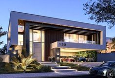 Cool 40 Relaxing Minimalist House Plan Ideas That Trend Now. Contemporary House Plans, Modern House Plans, Modern Glass House, Residential Architecture, Modern Architecture, Modern Minimalist House, Modern Villa Design, Bungalow House Design, Dream House Exterior