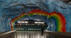 実在するストックホルムの地下鉄構内その2