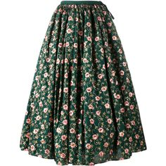 Ashish Ashish Floral Embroidered Skirt ($1,995) ❤ liked on Polyvore featuring skirts, green, green skirt, multi color skirt, ashish, multi colored skirt and colorful skirts