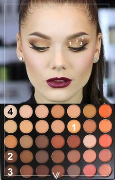 Neutral orange eyeshadow tutorial | Pinterest @zoieskym